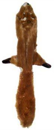 Ethical Mini Skinneeez Squirrel 14-Inch Stuffingless Dog Toy