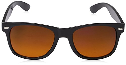 zeroUV - Blue Blocking Driving Horn Rimmed Sunglasses Amber Tinted Lens