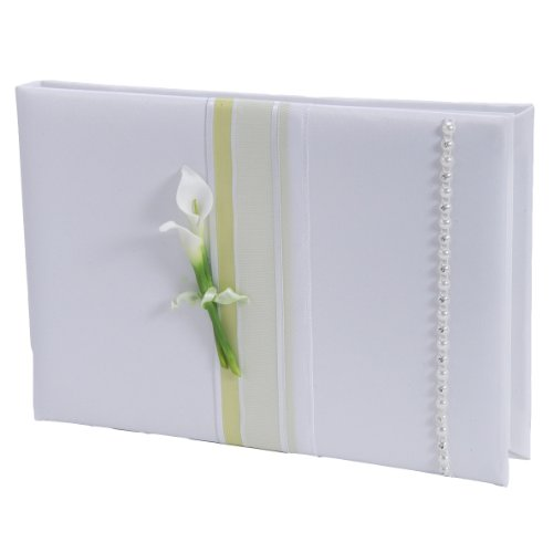 Traditional Guest Book - Weddingstar Bridal Beauty Calla Lily Traditional Guest Book