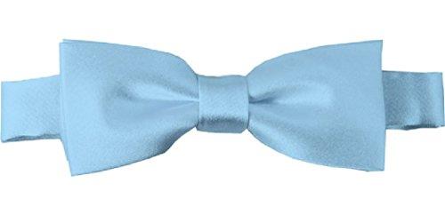 NYFASHION101 Boys' Solid Color Adjustable Pre-Tied Bow Ties, Powder Blue