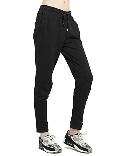 - duduxiaomaibu Sweatpants with Pockets Women's Leisure Gray Joggers Pants(Black-Small)