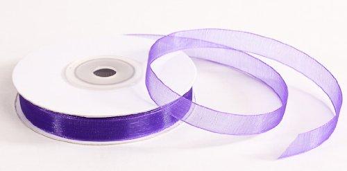Spools Elegant Purple Organza Ribbon
