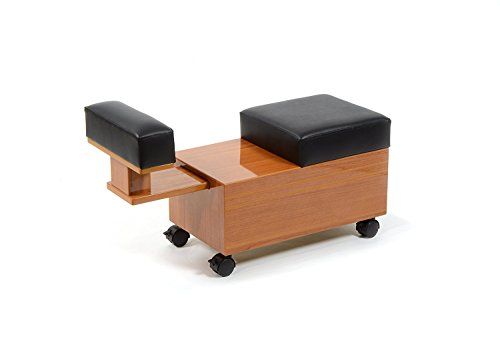 Pedicure Cart with Footrest SEDONA for Nail Salon Furniture & Equipment by Madison Park
