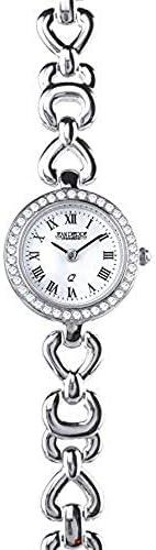 シルバーレディースブレスレット腕時計クォーツムーブメント - ローマ数字 - ラグジュアリーギフト