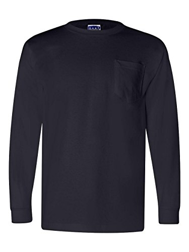 Bayside - Union-Made Long Sleeve T-Shirt with a Pocket - 3055 ()