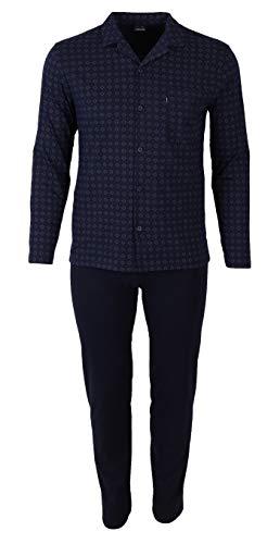 Homme Couleur Ammann 48 xl Sans Nightblue 2 Tailles 60 Les Ourlets Pour Long Pyjama 54 Pièces Taille Dans À Élastiques qX6XwzHr