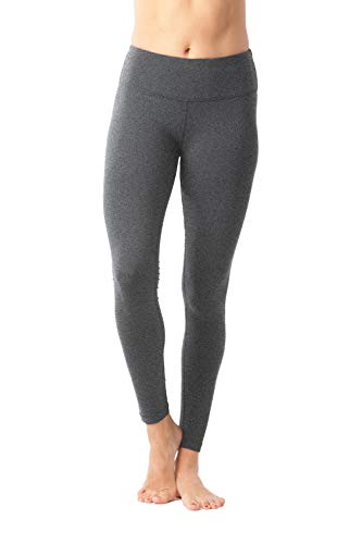 90 Degree By Reflex Power Flex Yoga Pants - Heather Charcoal - Medium