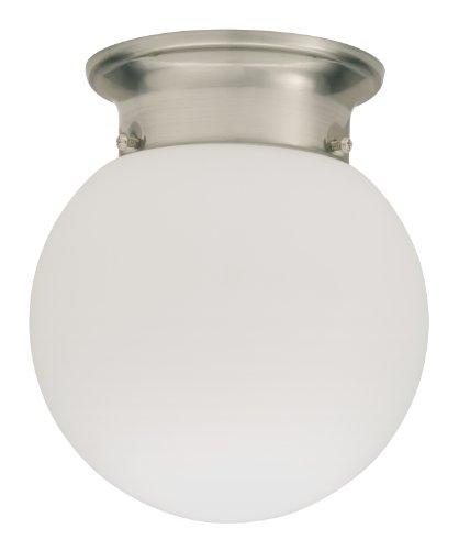 Lithonia Lighting 11981 BNP M4 Round 6-Inch Ceiling Globe, Brushed Nickel