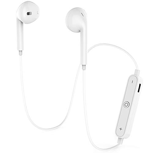 GEJIN Wireless Bluetooth Headphones,Bluetooth 4.1 Waterproof Sports Earphones,Noise Cancelling Earbuds(White)