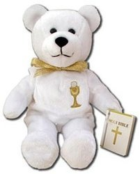 First Communion Catholic Bear Stuffed Animal ()