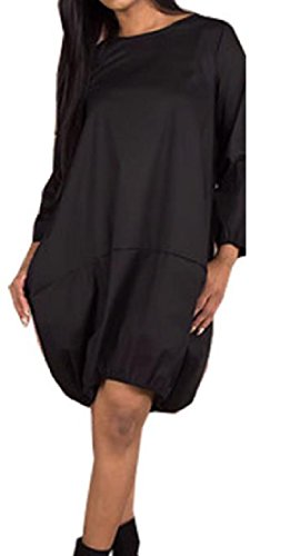 Baggy Dresses Hip Hop Long Black Sleeve Oversize Comfy Pockets Cozy Womens xwYqR70z