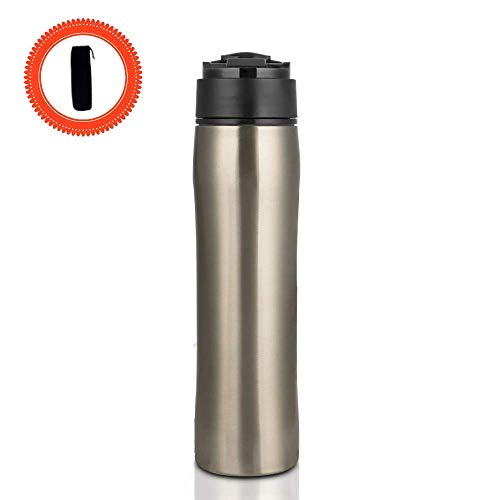 Travel French Press Coffee Maker | Portable Coffee Press | Travel Coffee Tumbler | Iced Coffee | Tea Maker | Vacuum Insulated | Premium Stainless Steel BPA Free | Durable Easy-Cleaning | 12oz 350ml