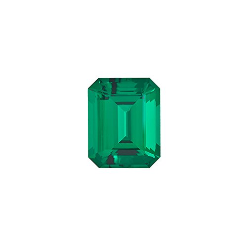 0.74-0.96 Cts of 7x5 mm AAA Emerald-Cut Russian Lab Created Emerald ( 1 pc ) Loose (Lab Created Emerald Stone)