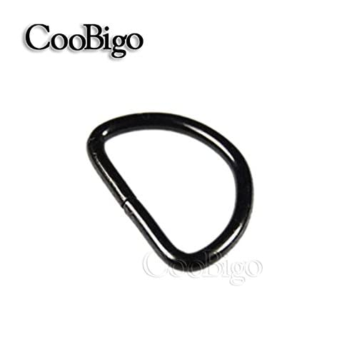 "cheap 25pcs 3/4"" (20mm) Black Non Welded Dee Rings Plated D-Rings Webbing Strapping FLQ028-B"