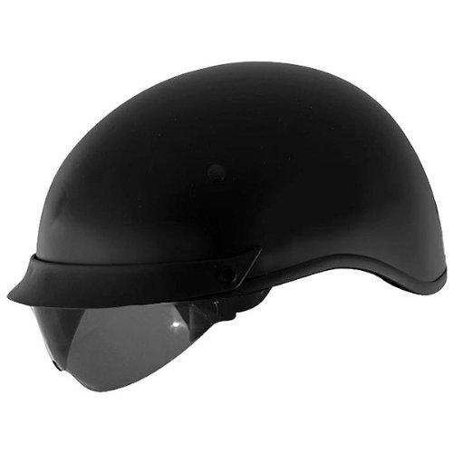 Internal Shield Cyber U-72 - Cyber Solid with Internal Shield U-72 Open Face Motorcycle Helmet - Matte Black / X-Small