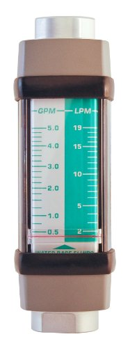 Hedland H613A-005 Flowmeter, Aluminum, For Use With Water...