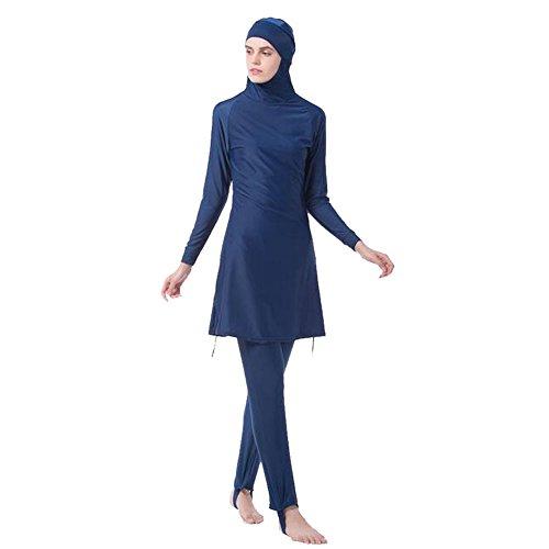 Swimwear completa solare Suit Per pezzi arabo Copertura Bathing Malaysia Meijunter Burkini Beachwear musulmano Modesto Hijab da 2 Costume Middle Bambini islamico Protezione East bagno Blu 0nqXAH
