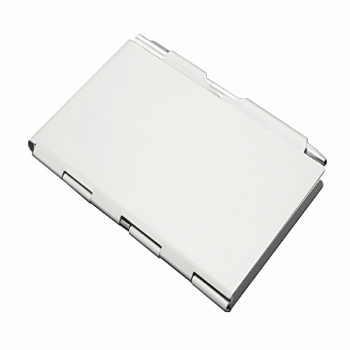 - grastre-Metal Pocket Notebook-Convenient Aluminum Note Case with Mini Pen and Notepad (Gray)