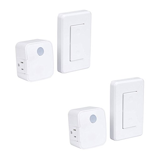 - WESTEK Indoor Wireless Wall Outlet Switch with Remote Operation, Pack of 2 - Ideal for Lamps and Household Appliances - The Easy Way to Add a Switched Outlet - Signal Works Up To 100 Feet Away
