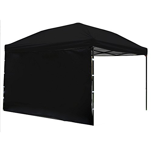 Punchau Pop Up Canopy Tent with Sidewall 10 x 10 Feet, Black - UV Coated, Waterproof Instant Outdoor Party Gazebo Tent