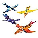 Foam Glider Dinosaur – 48 Pack – Assorted Colors And Designs Foam Airplane Flying Gliders - For Kids Great Party Favors, Bag Stuffers, Fun, Toy, Gift, Prize