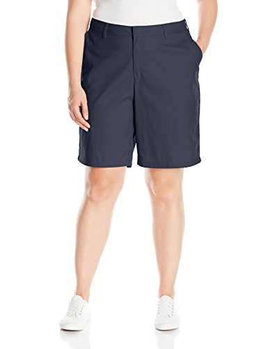 Dickies Women's Size Relaxed Fit 9 inch Flat Front Short Plus, Dark Navy, 18W