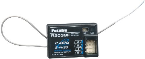 - Futaba R203GF 3-Channel S-FHSS Receiver (Rx)