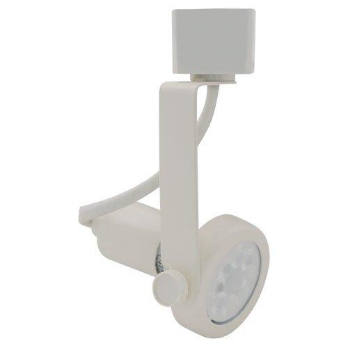 Line Voltage Scoop Wall Washer - Elco Lighting ET1626W Line Voltage GU10 Base MR16 Gimbal Ring Fixture