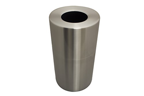Witt Industries AL18-CLR Aluminum 24-Gallon Decorative Trash  Can with Rigid Plastic Liner, Round, 15'' Diameter x 30-1/2'' Height, Clear Coat by Witt Industries (Image #3)
