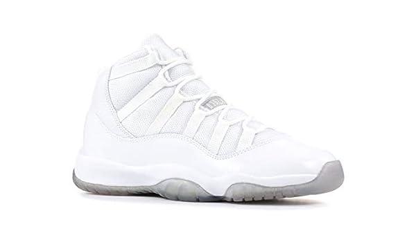 927d739177d Amazon.com   Air Jordan 11 (Gs) '25Th Anniversary' - 378038-101 - Size 4  White, Metallic-Silver   Basketball