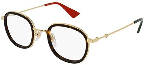 Gucci frame (GG-0111-O 002) Acetate - Metal Dark Havana - Gold -  889652078472