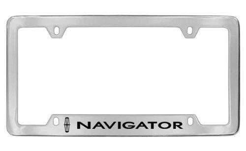 Chrome Navigator Lincoln (Lincoln Navigator Chrome Plated Metal Bottom Engraved License Plate Frame Holder)