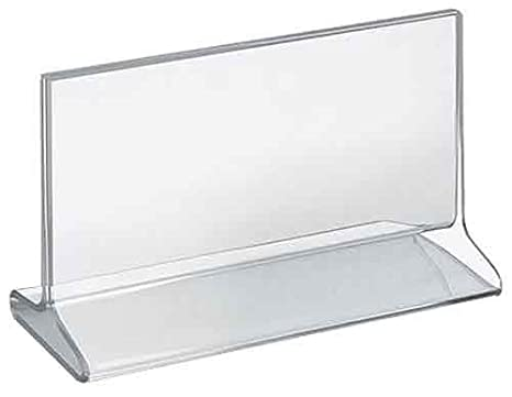 Azar Displays 142711 5-1/2-Inch W by 8-1/2-Inch H Top-Load Acrylic Sign Holder, 10-Piece Set