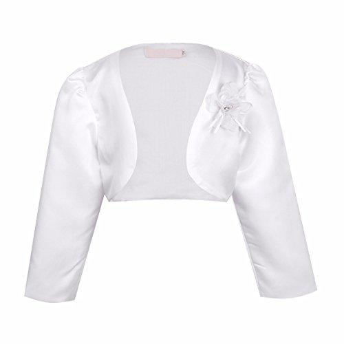 7e6a3c9786c9c Freebily Kids Girls Long Sleeves Bolero Jacket Shrug Short Cardigan Sweater  Dress Cover up Ivory 9-12 Months