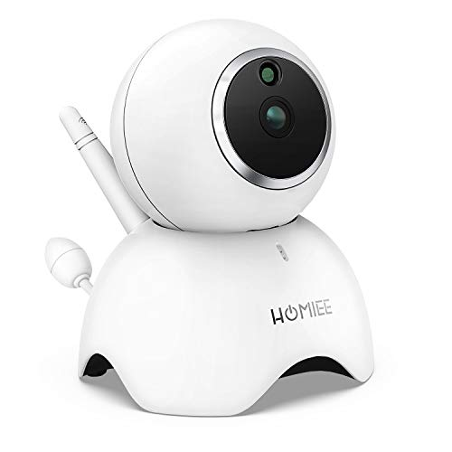 Additional Camera Unit Only Compatible with Homiee BM1003 Baby Monitor, 720P Surveillance Camera Indoor IP Camera with Night Vision,up to 4 Cameras Connected