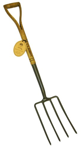Flexrake CLA106 Classic D Handle Digging Fork with 40-Inch Handle