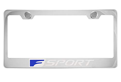 Lexus F Sport Chrome License Plate Frame with Caps, used for sale  Delivered anywhere in Canada