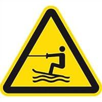 Schild Warnung v. Wasserski-Bereich ISO20712-1 40cm Alu