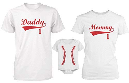 (365 In Love Daddy or Mommy or Baby Family Matching Baseball T-shirt and Bodysuit)