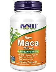 Now Foods Maca ruw 750 mg 90 plantaardige capsules
