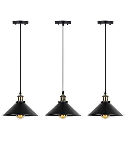 - Pendant Light Set of 3,Deep Dream Hardwire Industrial Vintage Lamp Fixture,Bronze Lighting Shade (Without Bulbs)
