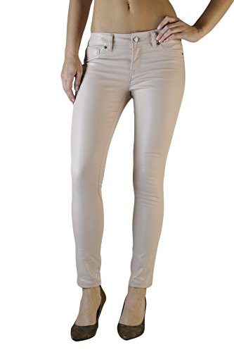 Standards & Practices Women's Rose Gold Coated Stretch Twill Cropped Skinny Jeans Size 29 x (Perfect Stretch Twill Cropped Pants)