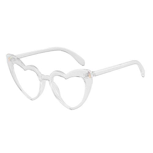 Heart Glasses Protection forme Love chat Classique Polarisé de Lunettes de Transparent Oeil lunettes Lunettes En de protectrices Rétro Meijunter soleil Style Élégant UV 1Uz0pUx