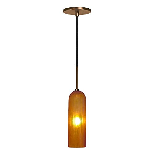 (Jesco Lighting PD411-AM/BZ 1-Light Line Voltage Pendant and Canopy with Bronze Socket,)