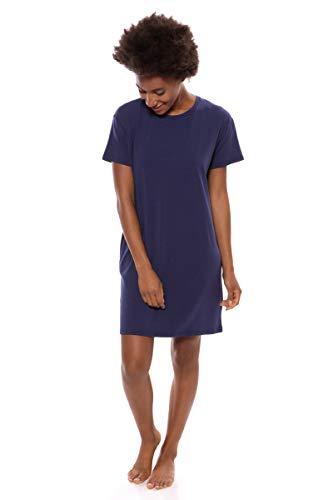 Texere Women's Jersey Sleep Shirt (SoHome, Gulf Blue, S) Top
