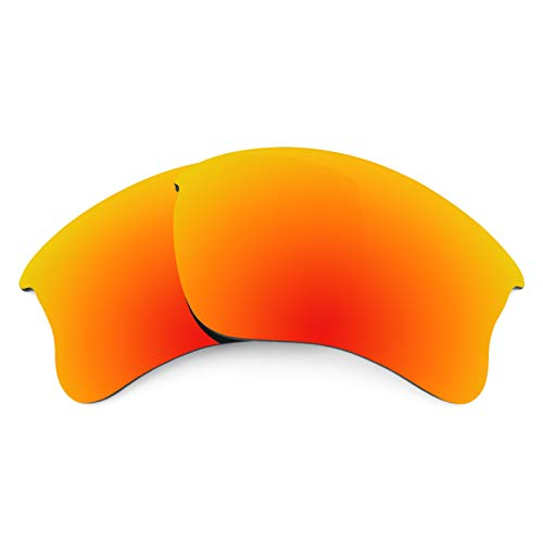 Revant Polarized Replacement Lenses for Oakley Flak Jacket XLJ Elite Fire Red ()