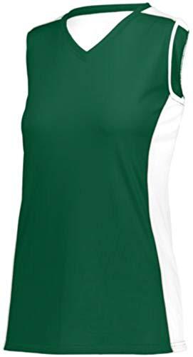 Augusta Sportswear Girls Paragon Jersey L Dark Green/White/Silver Grey