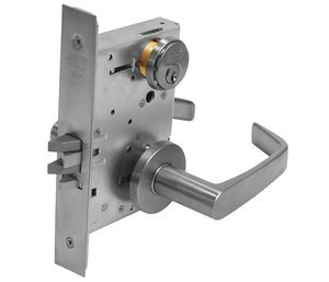 Satin Chrome Mortise Classroom Newport Lever Lock ()