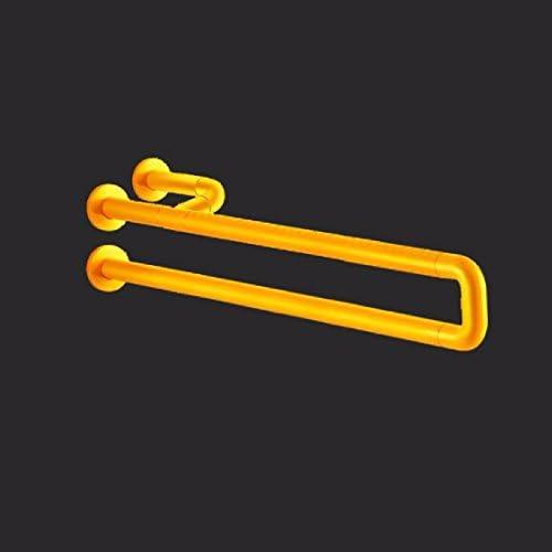 浴室用手すり 障害者の棚の老人は障害者のトイレの便器の滑り止めの手で便器の手に乗ります,黄色,60 cm