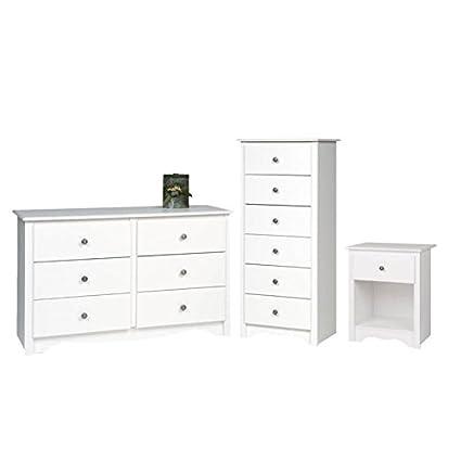Amazoncom Home Square 3 Piece Bedroom Set With Nightstand Dresser